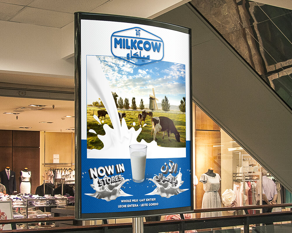 Poster design for milk brand